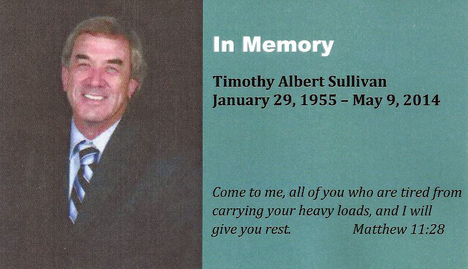 In Memory of Timothy Albert Sullivan